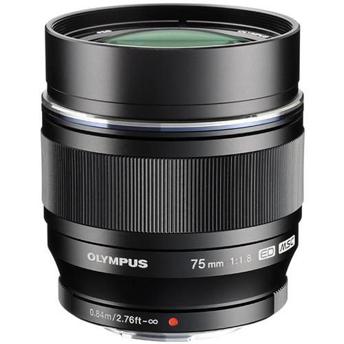 OLYMPUS 75mm f1.8 Lens Black                   Micro 4/3
