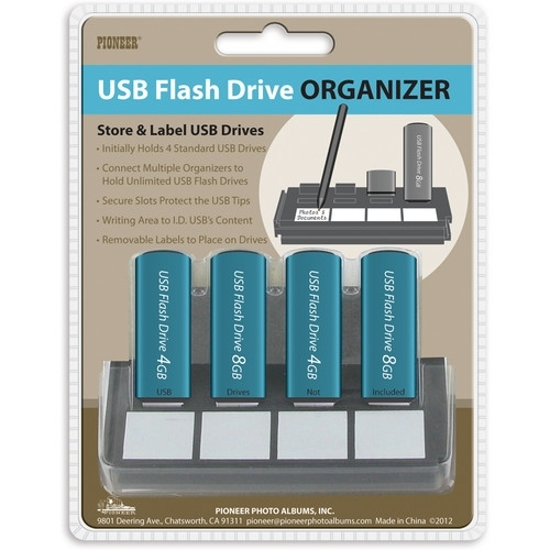 PIONEER USB4 Flash Drive Organizer