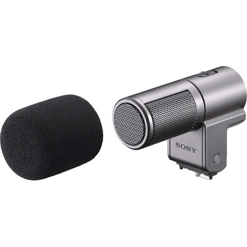 SONY ECMSST1 Compact Stereo Mic Silver