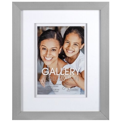 """MALDEN Home Space Matted Wood 5""""x7"""" Wall Frame (Gray)"""