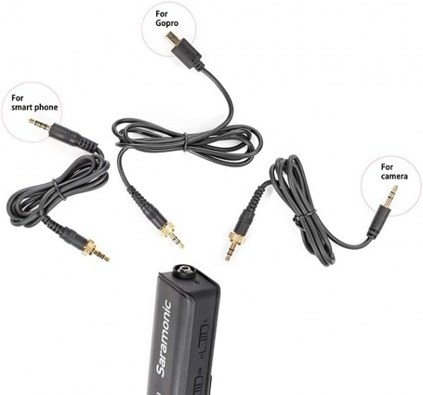 SARAMONIC LavMic Dual Channel 3.5mm Lav Mic and Mixer Kit