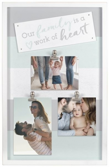 """MALDEN """"Family is a Work of Heart"""" 3 Clip Collage Frame"""