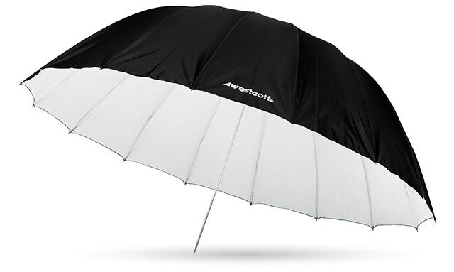 WESTCOTT 7' Parabolic Umbrella White / Black